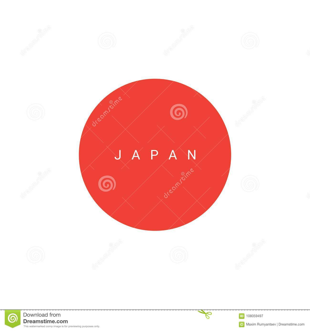 Vector Japan Icon Abstract Japan Logo Stock Vector Illustration Of Line Trade 108059497
