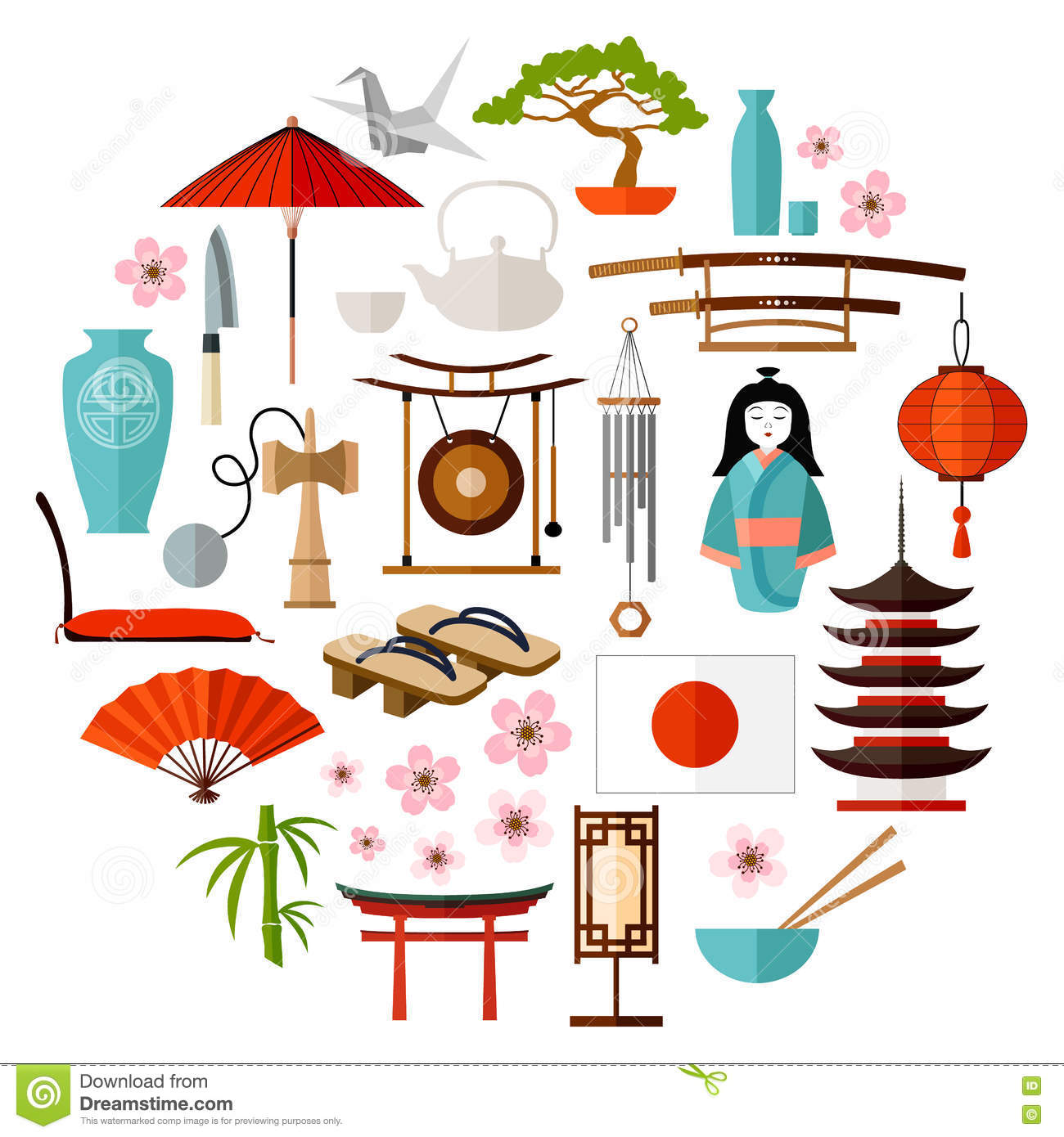 Vector japanese icons stock vector illustration of design 77714542 Japanese fashion style icon