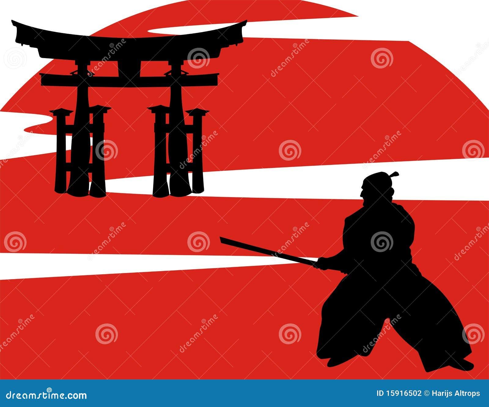 Vector japanese samura...