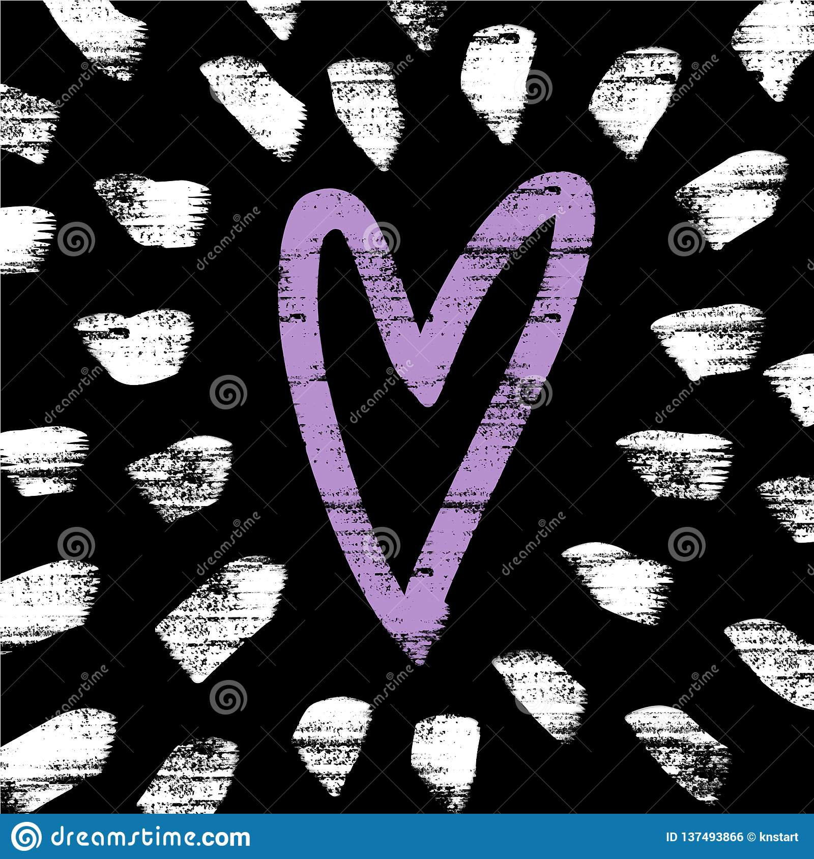 Vector and jpg image, clipart. Background with heart and decor elements