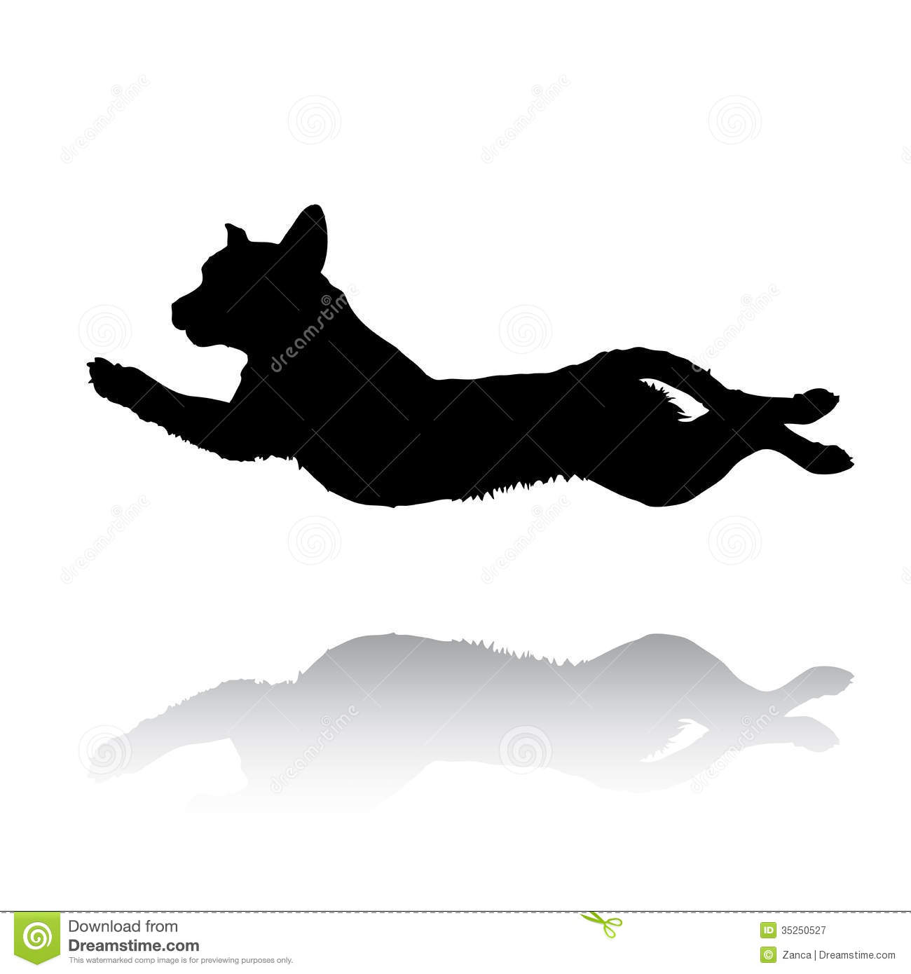 Vector jumping labrador retriever royalty free stock photography