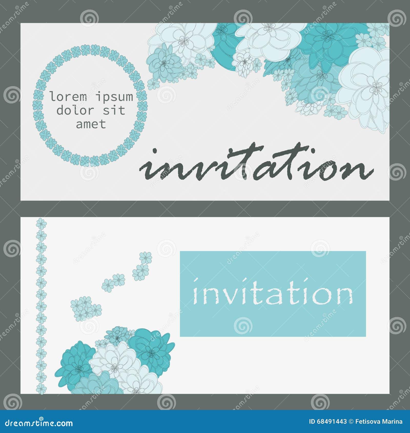 Vector Karte Mit Blumen, Kann Als Einladungskarte Für Die Heirat,  Geburtstag Und Anderer Feiertag