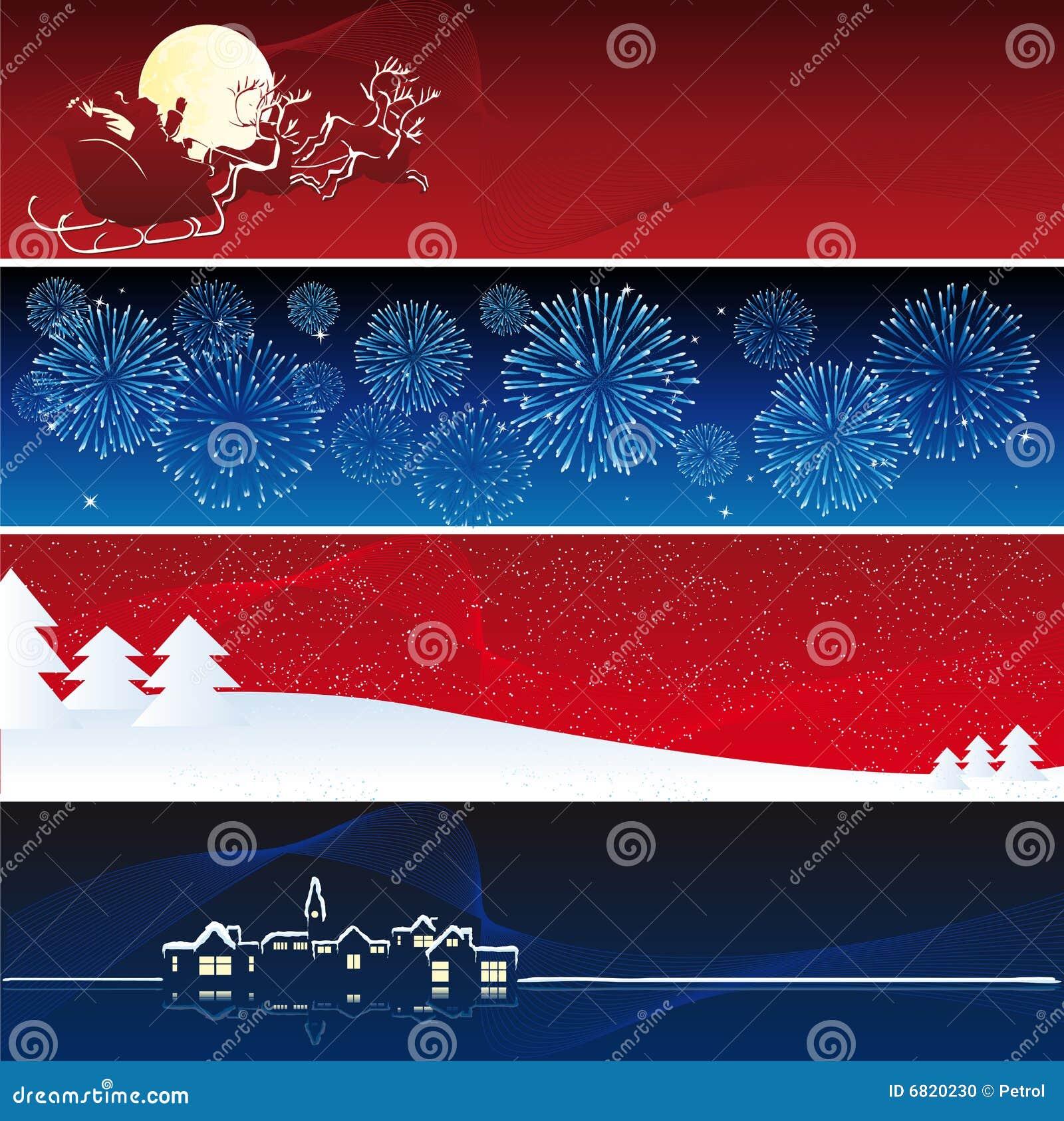 Vector Kerstmisbanners