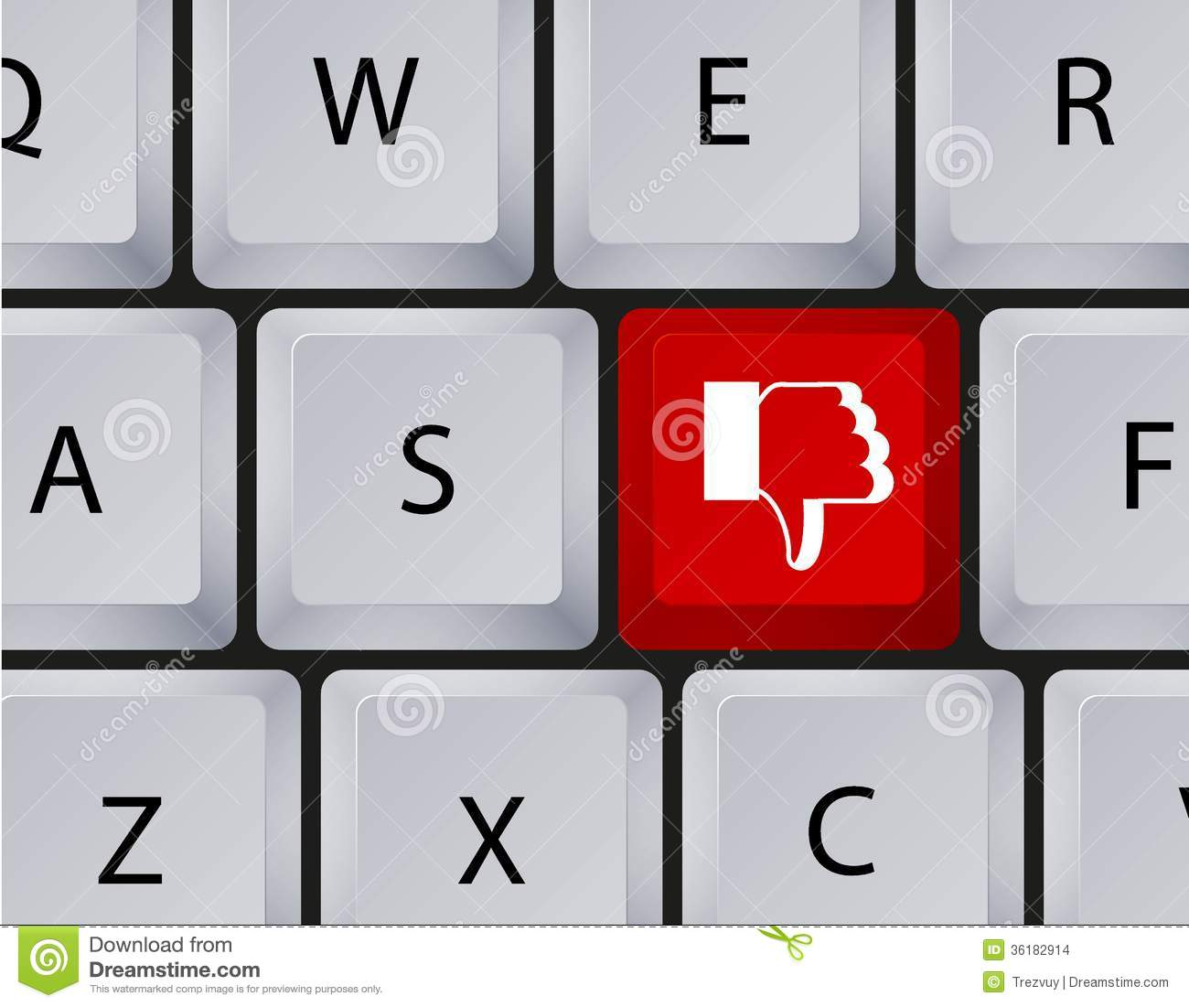 Vector keyboard with thumbs down button eps10 stock vector vector keyboard with thumbs down button eps10 biocorpaavc Gallery