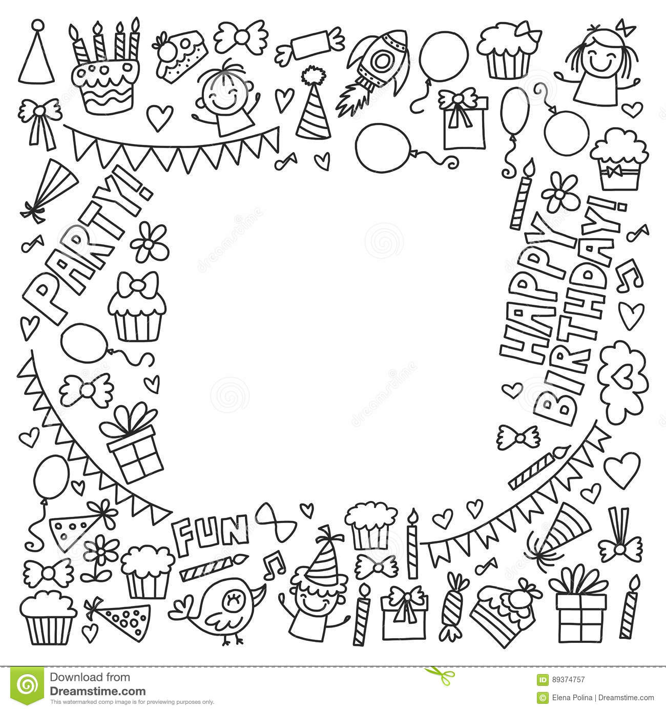 Cupcake Coloring Page Stock Illustrations – 220 Cupcake Coloring ...