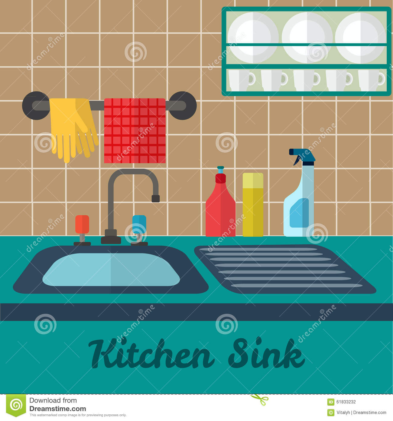 kitchen sink download vector kitchen sink stock vector illustration of graphic 2678