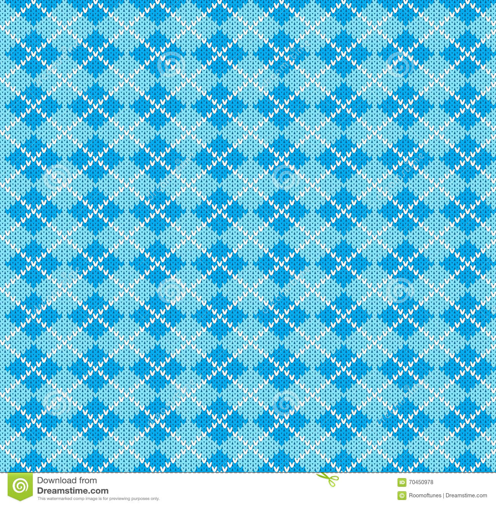 Vector Knitting Seamless Background: Geometric Pattern ...