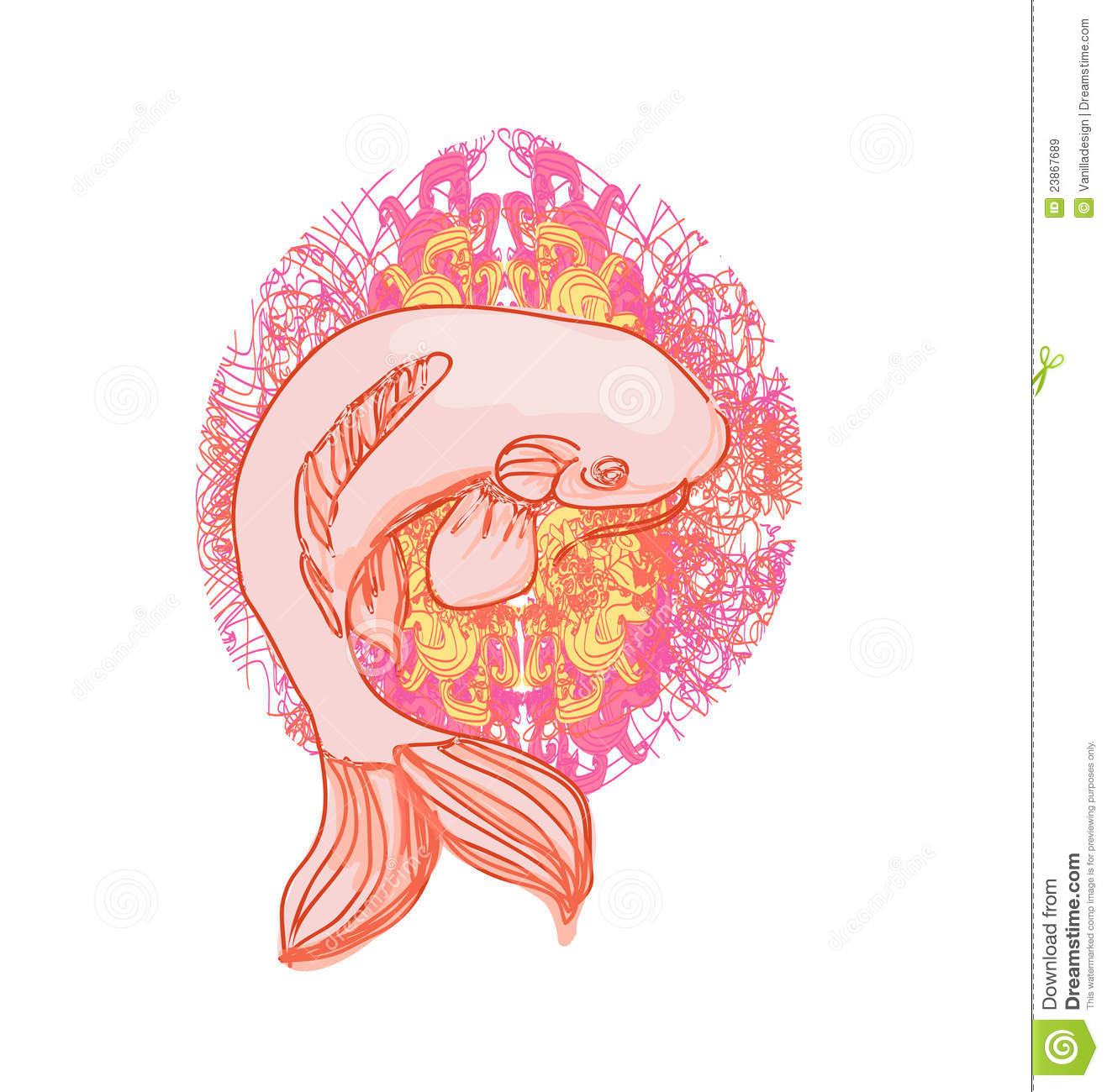 Vector koi fish stock vector illustration of dragon for Koi fish vector