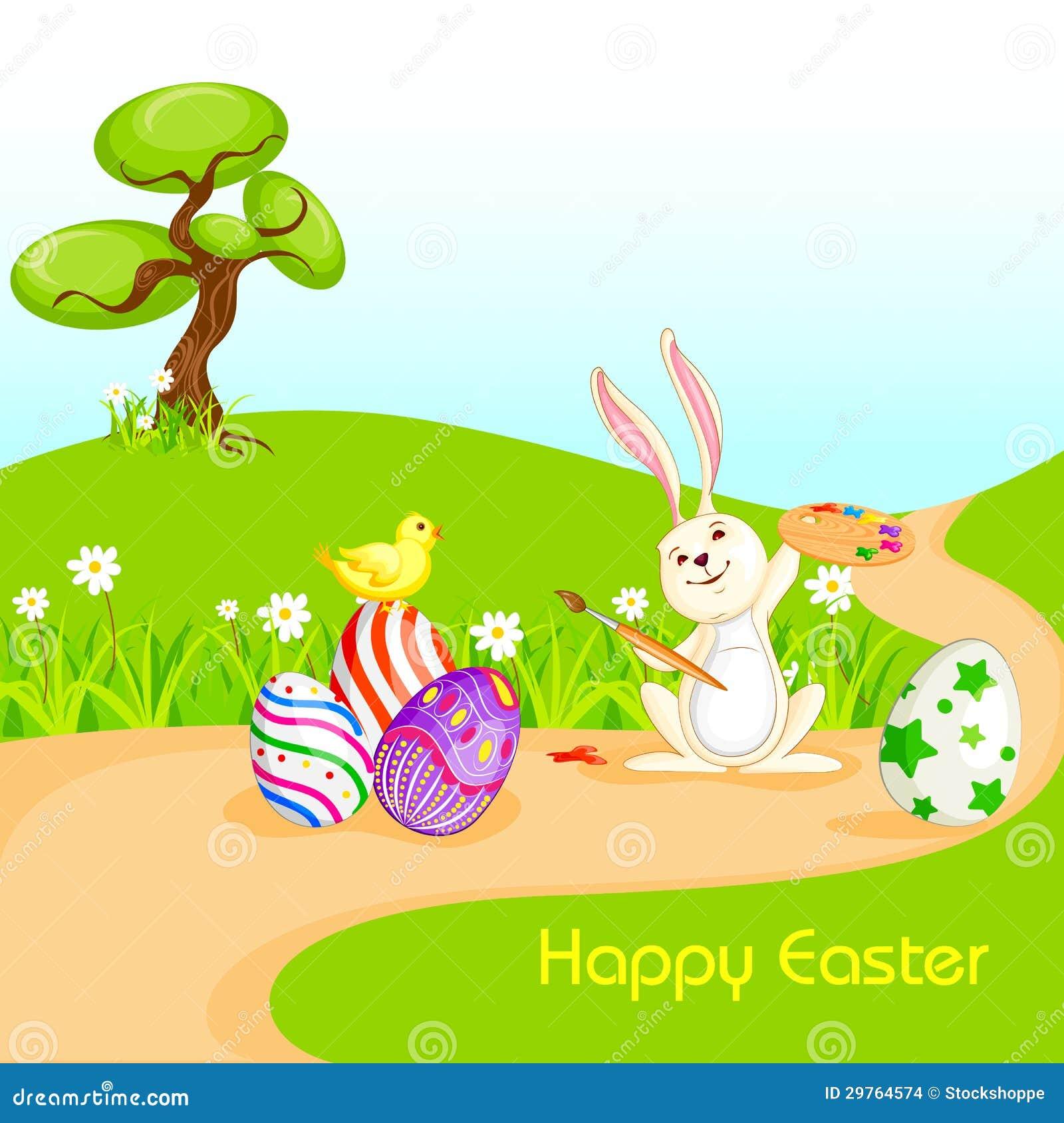Coniglietto che dipinge l 39 uovo di pasqua felice immagini - Lettere stampabili del coniglietto di pasqua ...