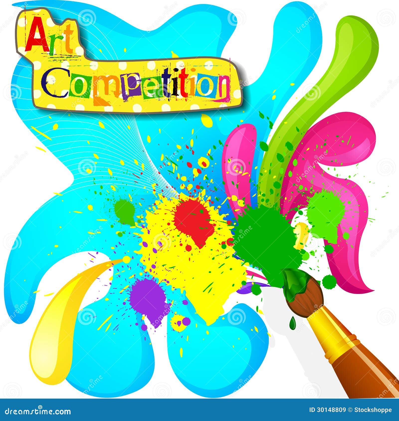 Manifesto della concorrenza della pittura e di arte for Immagini vector
