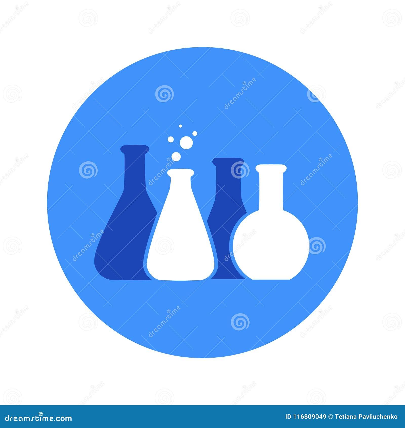 Vector l illustrazione dell icona chimica del tubo della prova di laboratorio