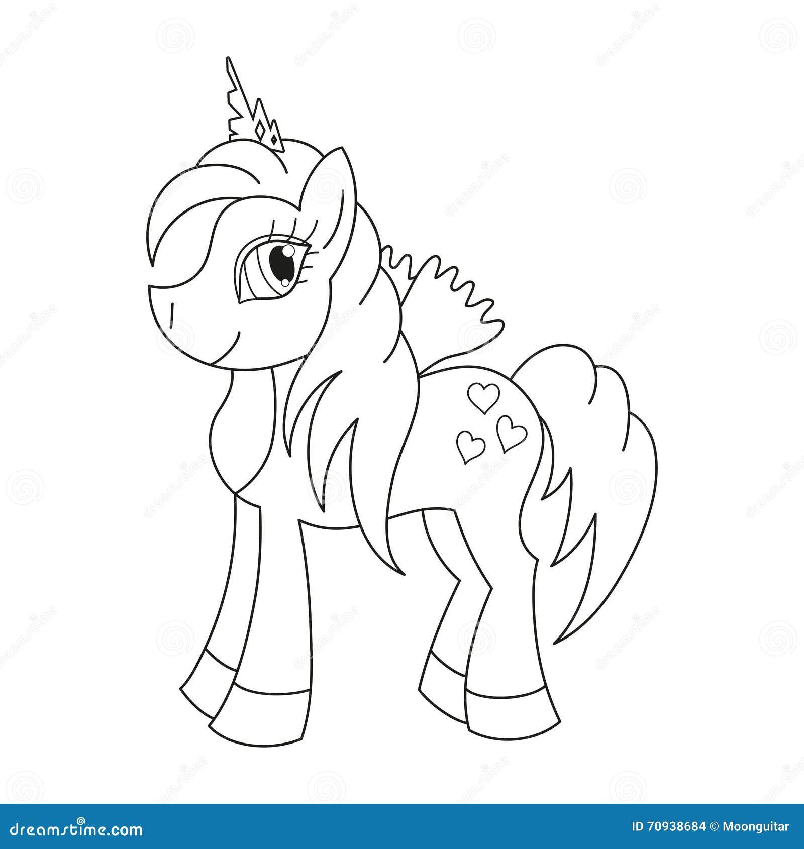 Vector l 39 illustrazione di principessa sveglia del cavallo for Disegno cavallo per bambini