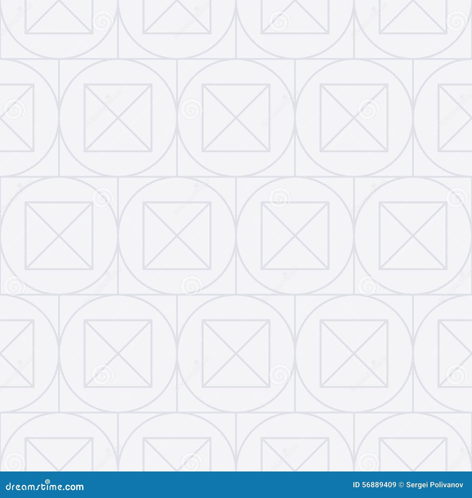 Vector l illustrazione di un modello lineare senza cuciture dei quadrati