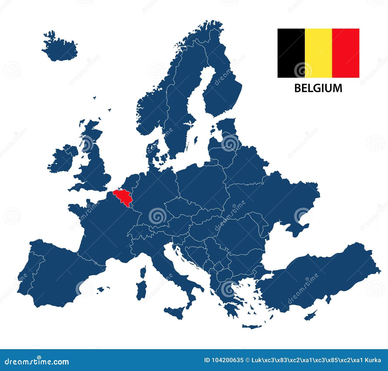 Cartina Fisica Belgio.Vector L Illustrazione Di Una Mappa Di Europa Con Il Belgio Evidenziato Illustrazione Vettoriale Illustrazione Di Paese Evidenziato 104200635