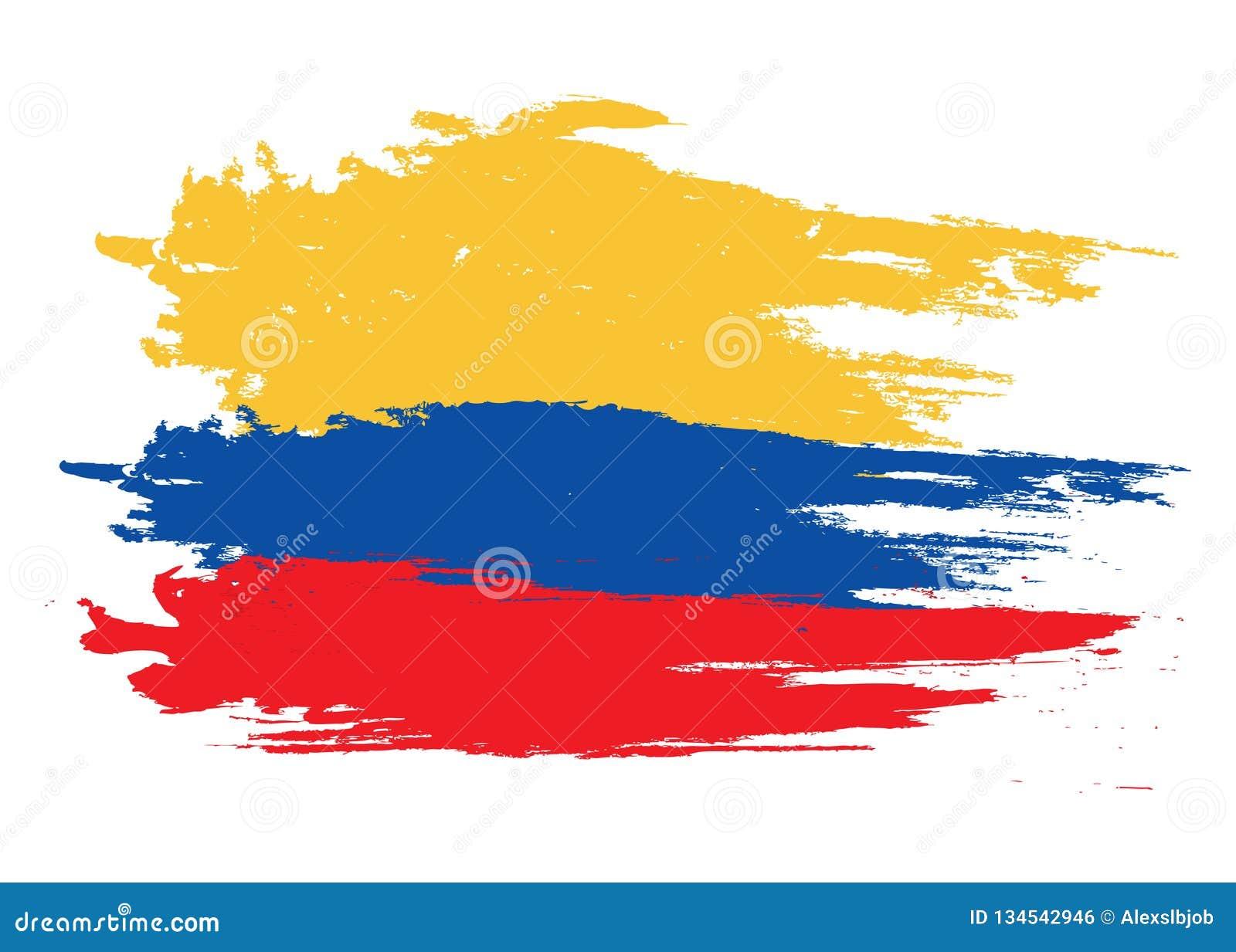 Vector la bandera de Colombia, ejemplo de la bandera de Colombia, imagen de la bandera de Colombia, bandera de Colombia