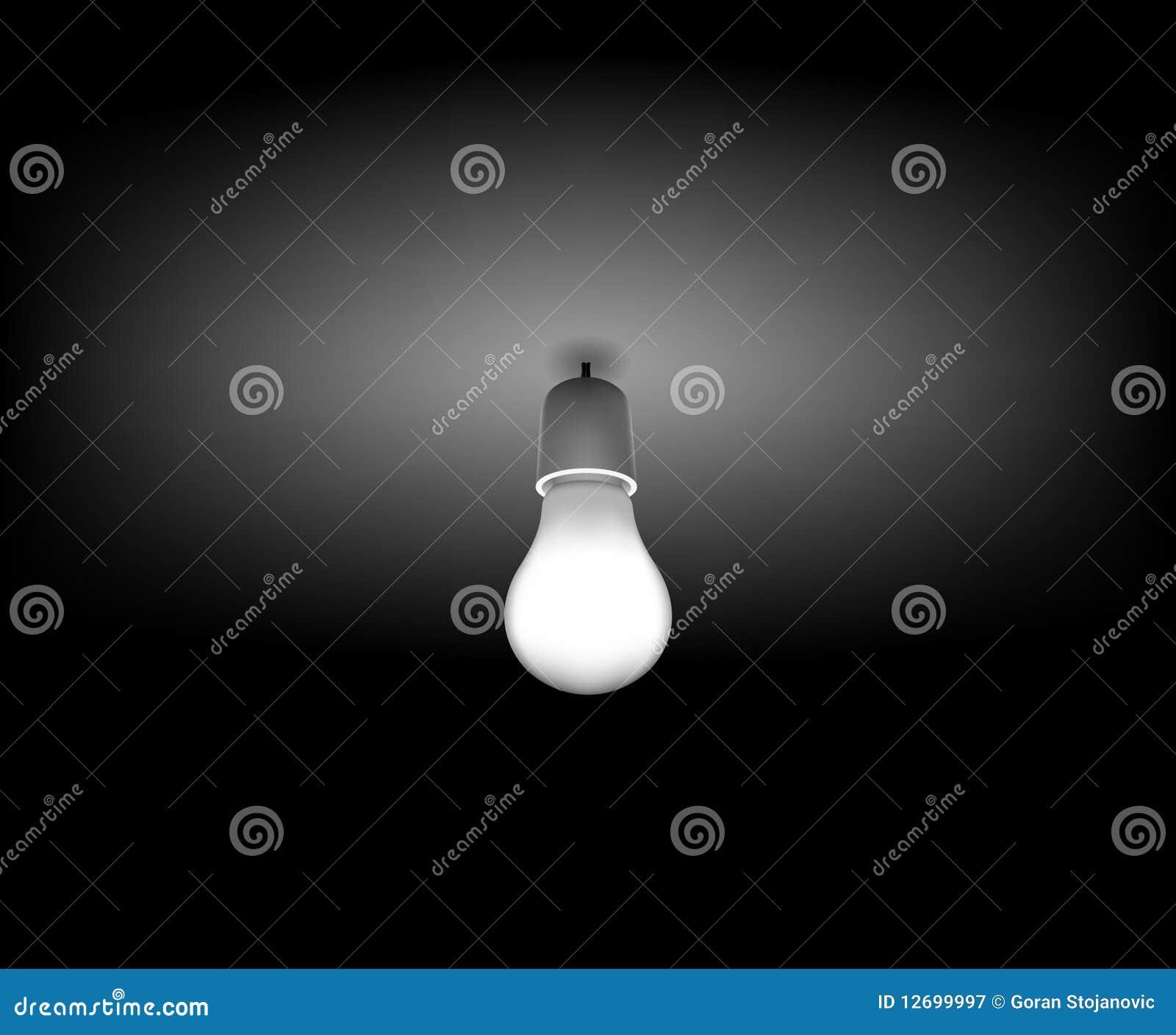 Vector la bombilla cl sica en el cuarto oscuro fotograf a for Cuarto oscuro fotografia