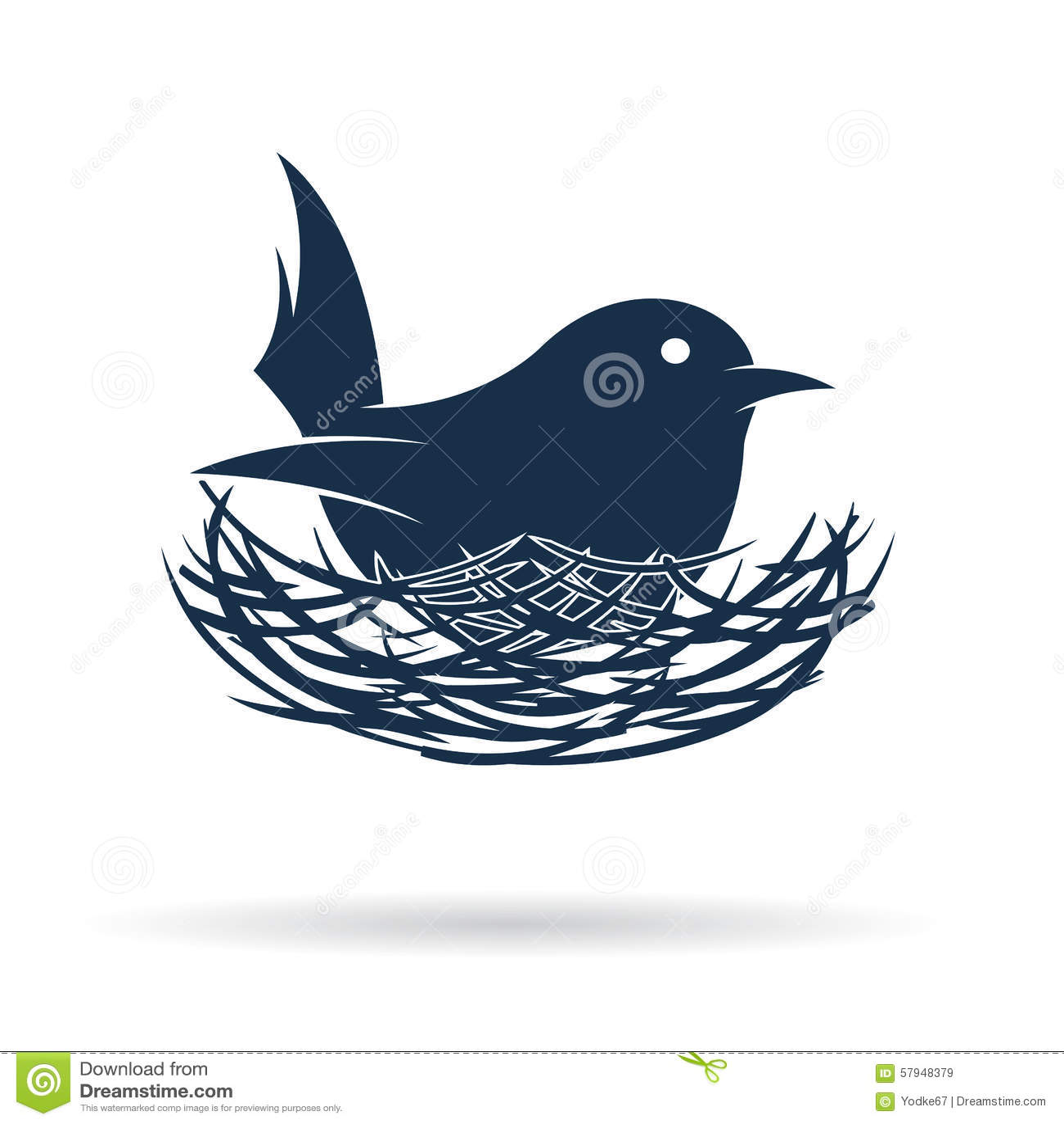 Vector la imagen de un pájaro traman su huevo en jerarquía