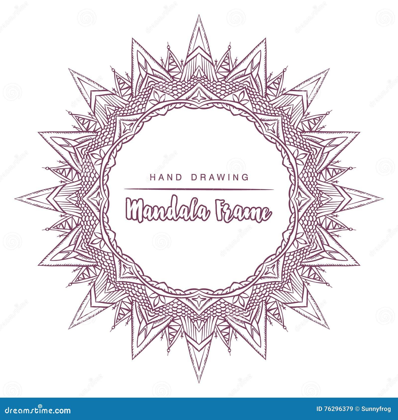 Vector La Mandala Para Colorear Con Los Elementos Decorativos Del ...