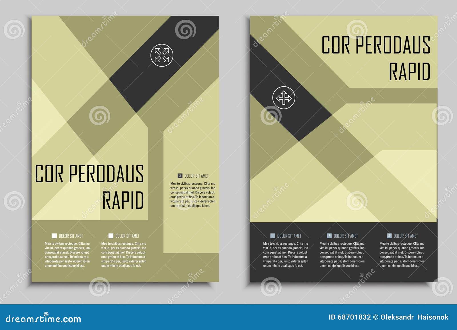 Vector La Plantilla De Los Folletos Para Las Presentaciones, Las ...