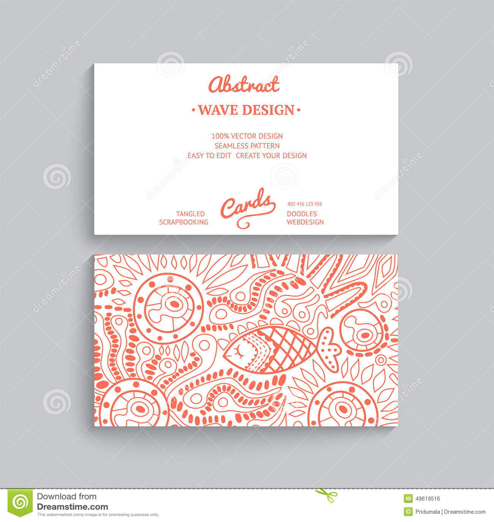 Vector la plantilla simple de la tarjeta de visita con el ornamento decorativo,
