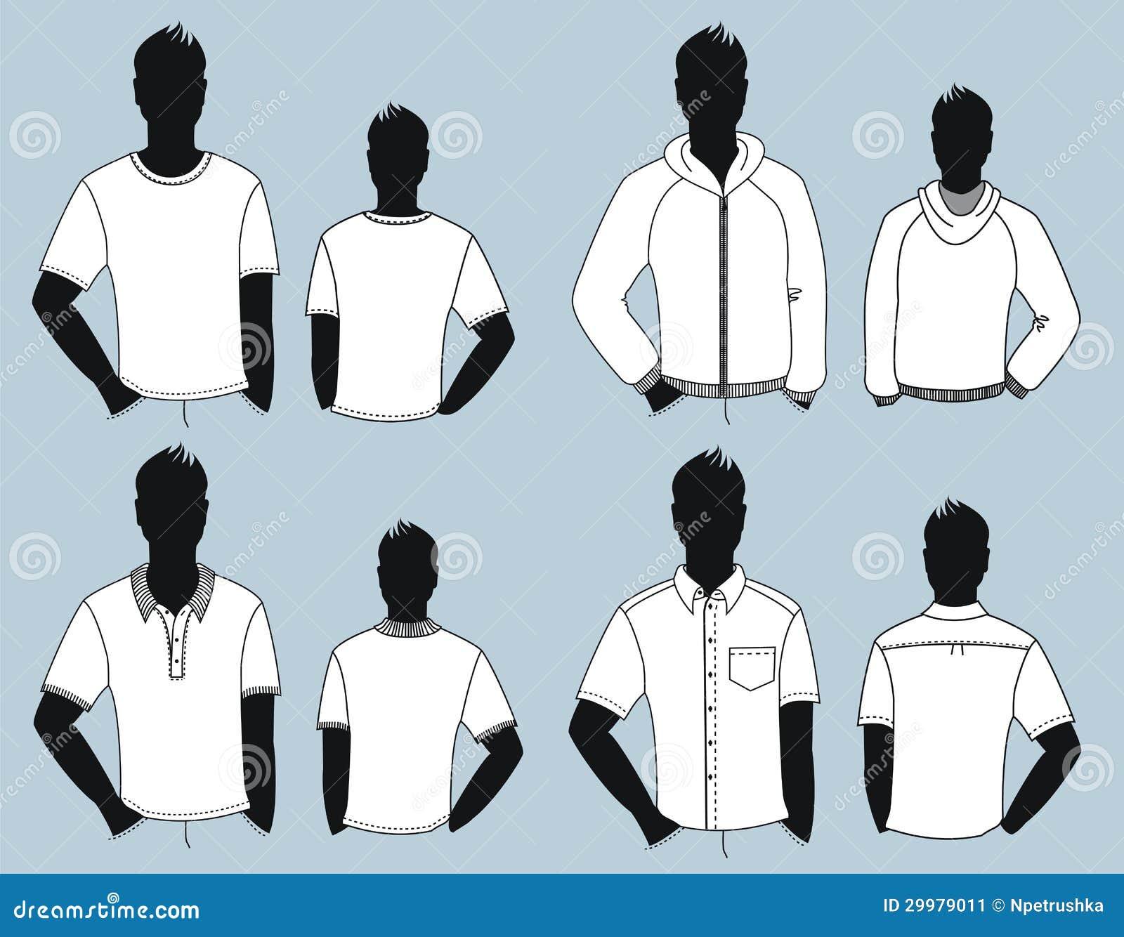 Ropa del hombre aislada para el dise o for Diseno de ropa
