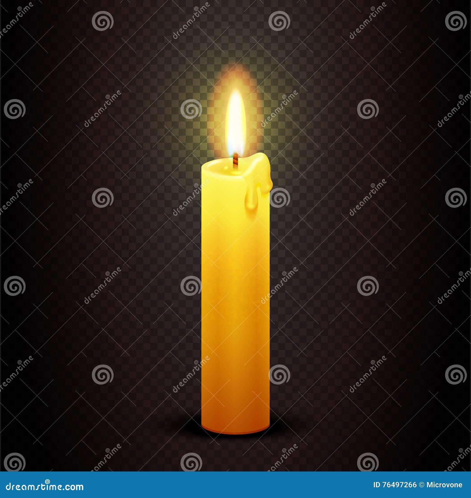 Vector La Vela Con La Llama En Fondo, La Navidad De La Luz De Una ...