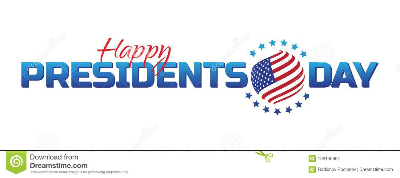 Vector label, logo or banner to Happy Presidents Day - National american holiday. Vector illustration isolated on white background
