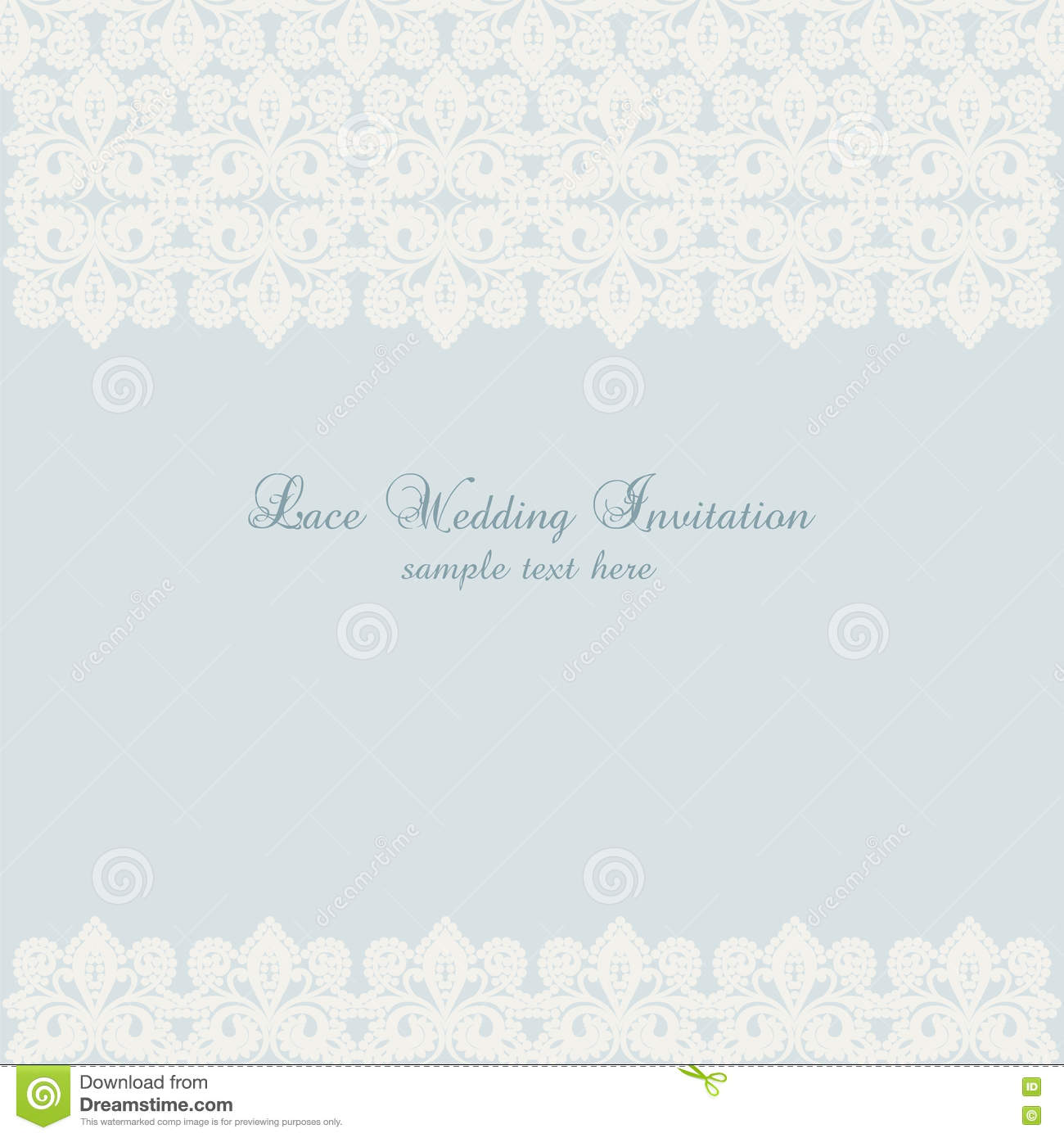 Crochet Wedding Invitations: Vector Lace Crochet Card Background Stock Vector