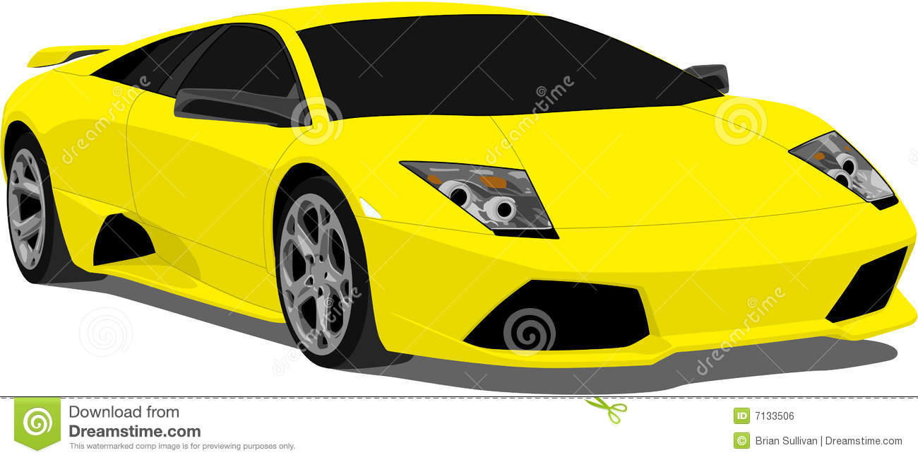 Expensive Car For Sale Or Gift Royalty Free Stock Image: Vector Lamborghini Murcielago Royalty Free Stock Image