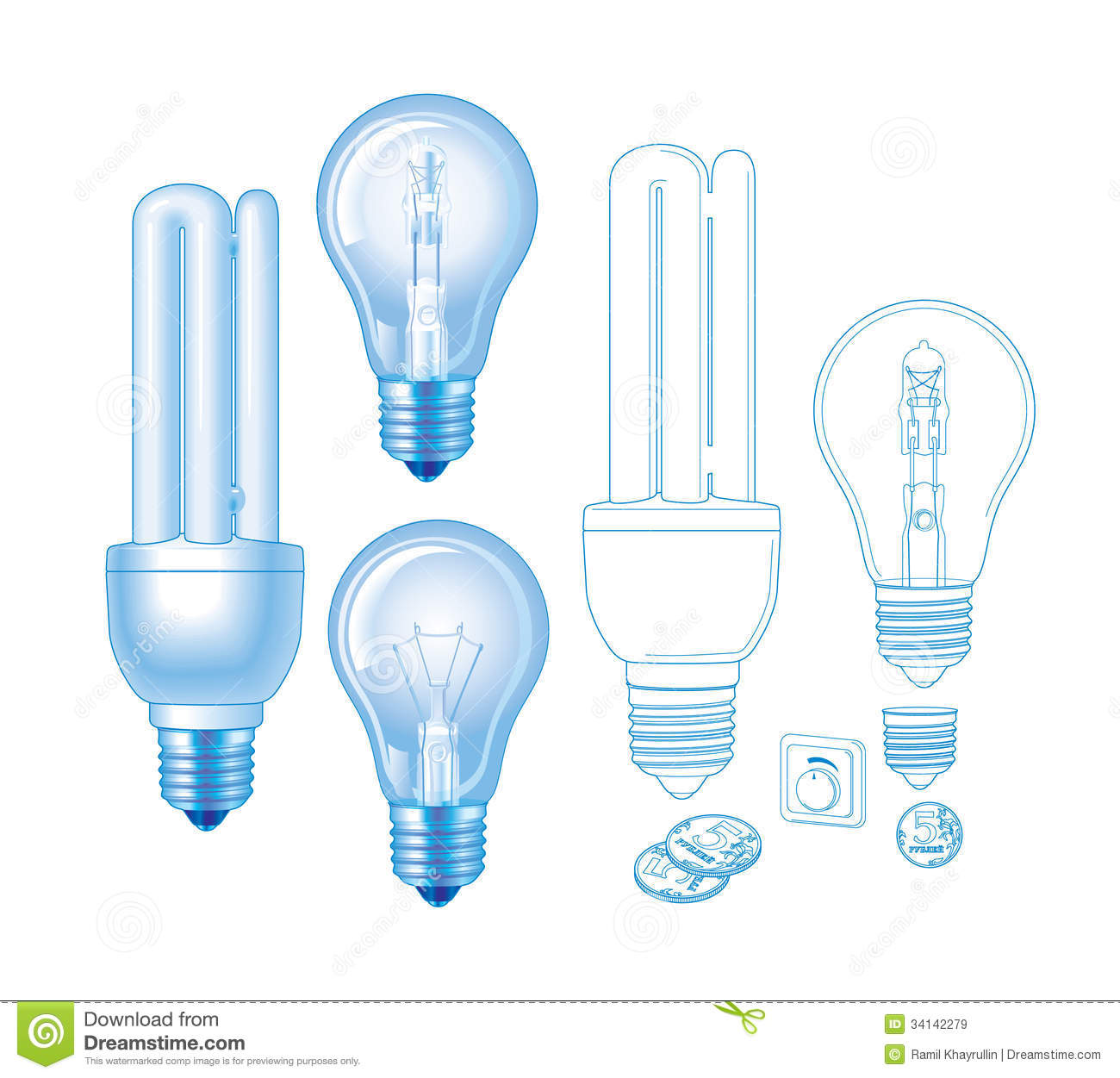 Vector Lamp Stock Vector  Image Of Energy  Drawing  Lamps
