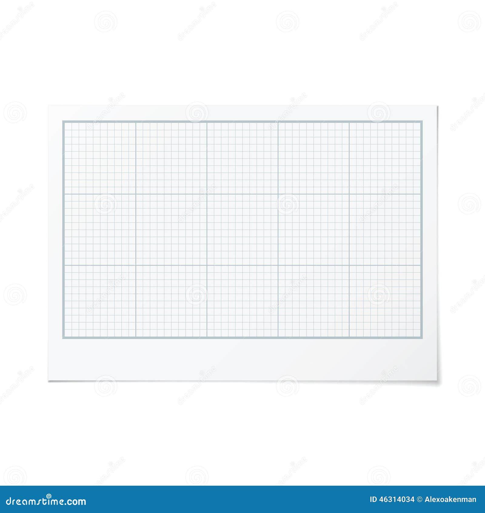 vector landscape orientation engineering graph paper stock illustration