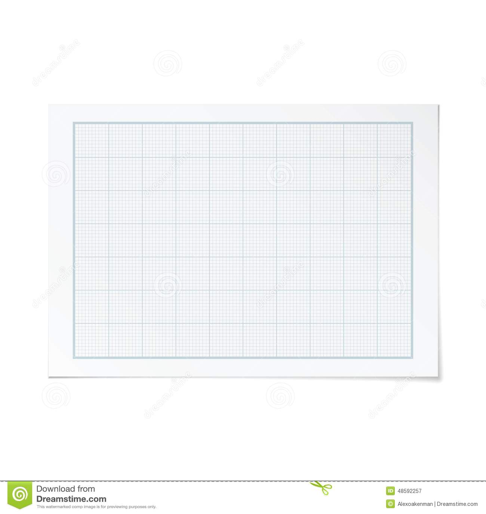 vector landscape orientation engineering graph paper stock vector