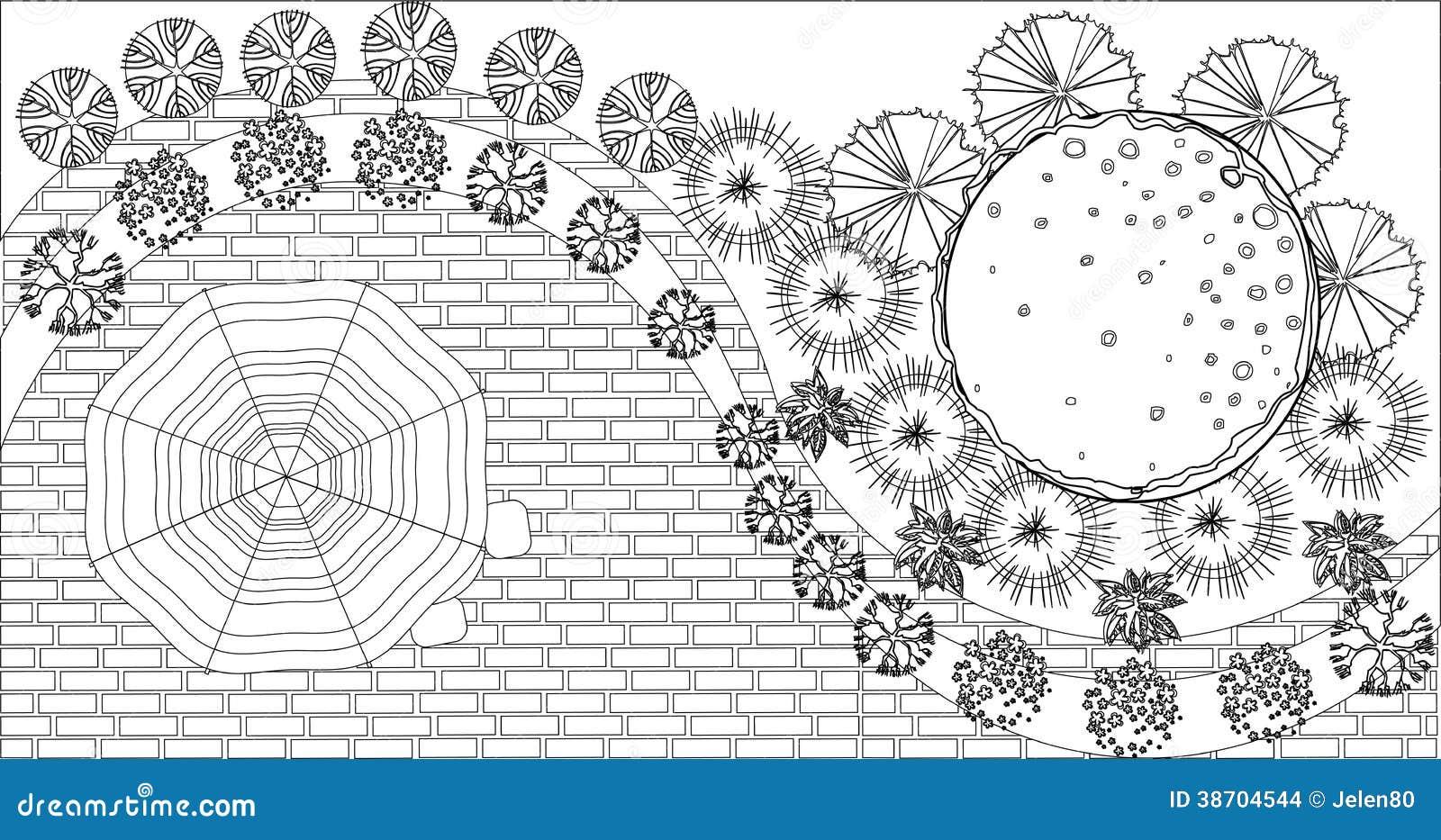 How To Read Floor Plans Symbols Vector Landscape Pla Stock Images Image 38704544
