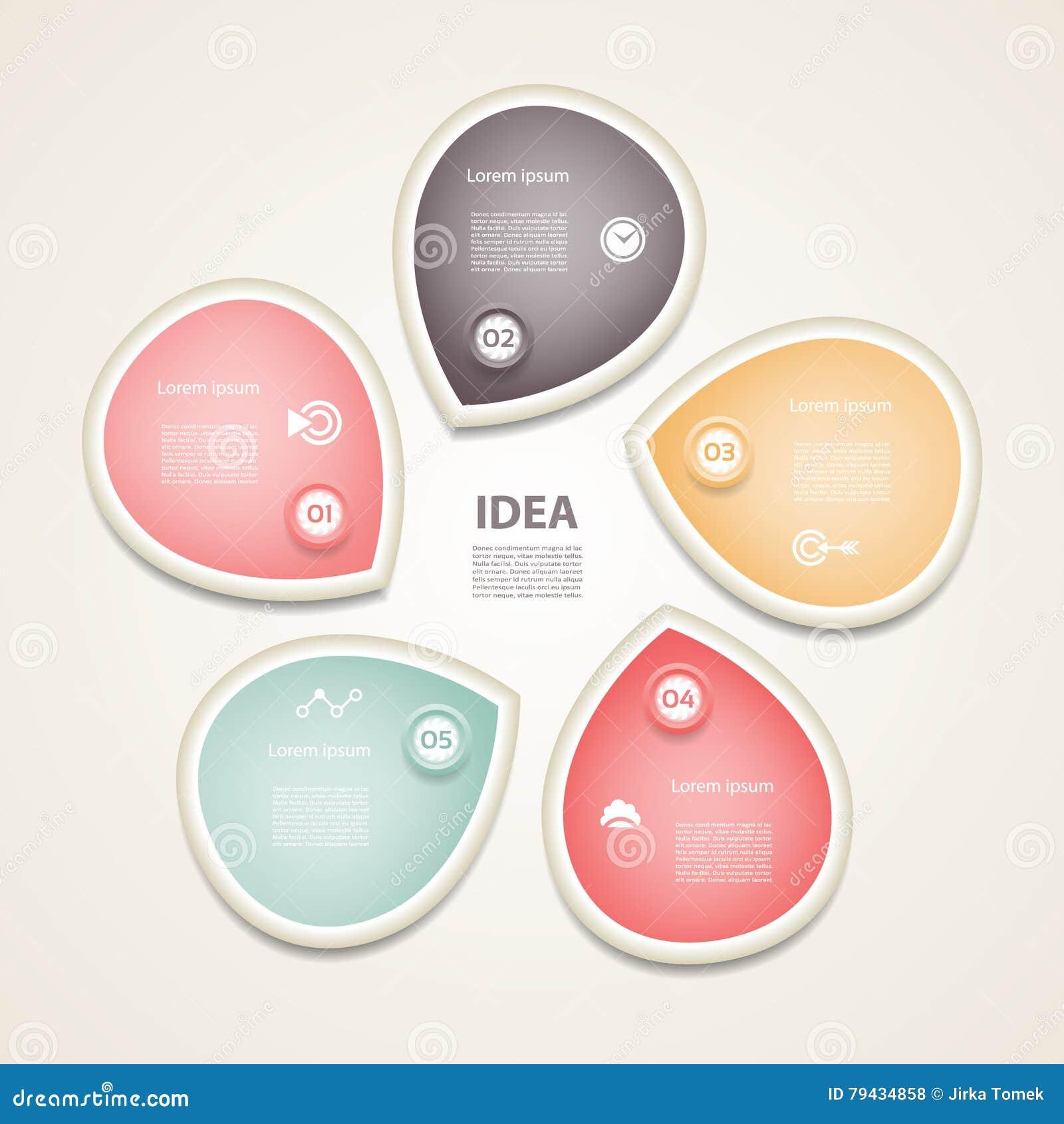 Vector las flechas infographic, diagrama, gráfico, presentación, carta del círculo Concepto del ciclo de negocio con 5 opciones,