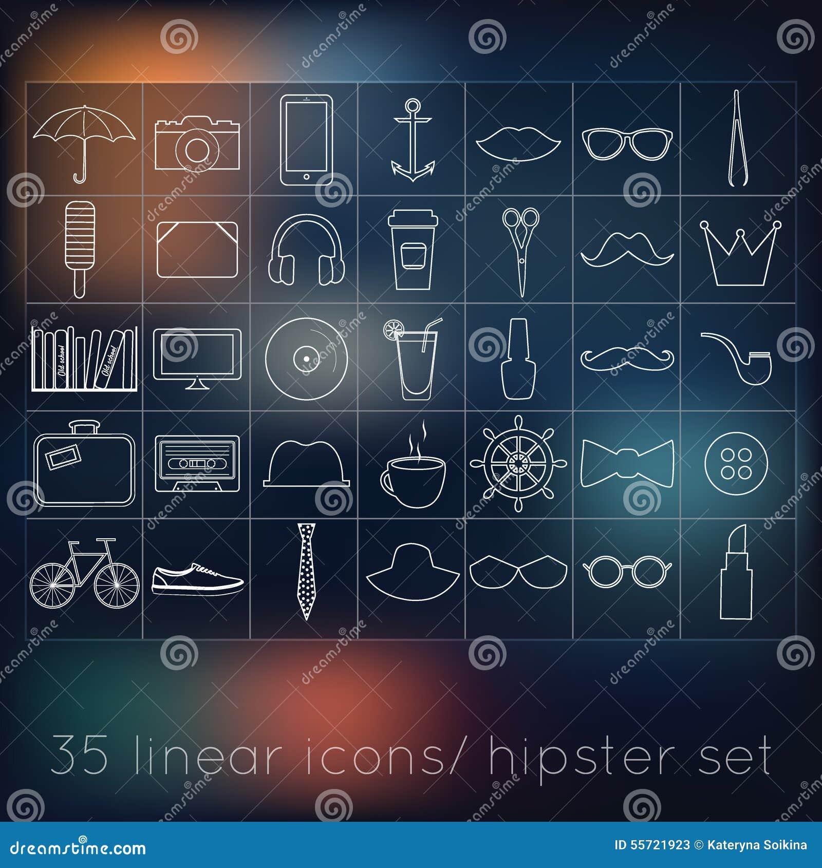 Vector las muestras y las plantillas del inconformista de los símbolos para su linea del diseño