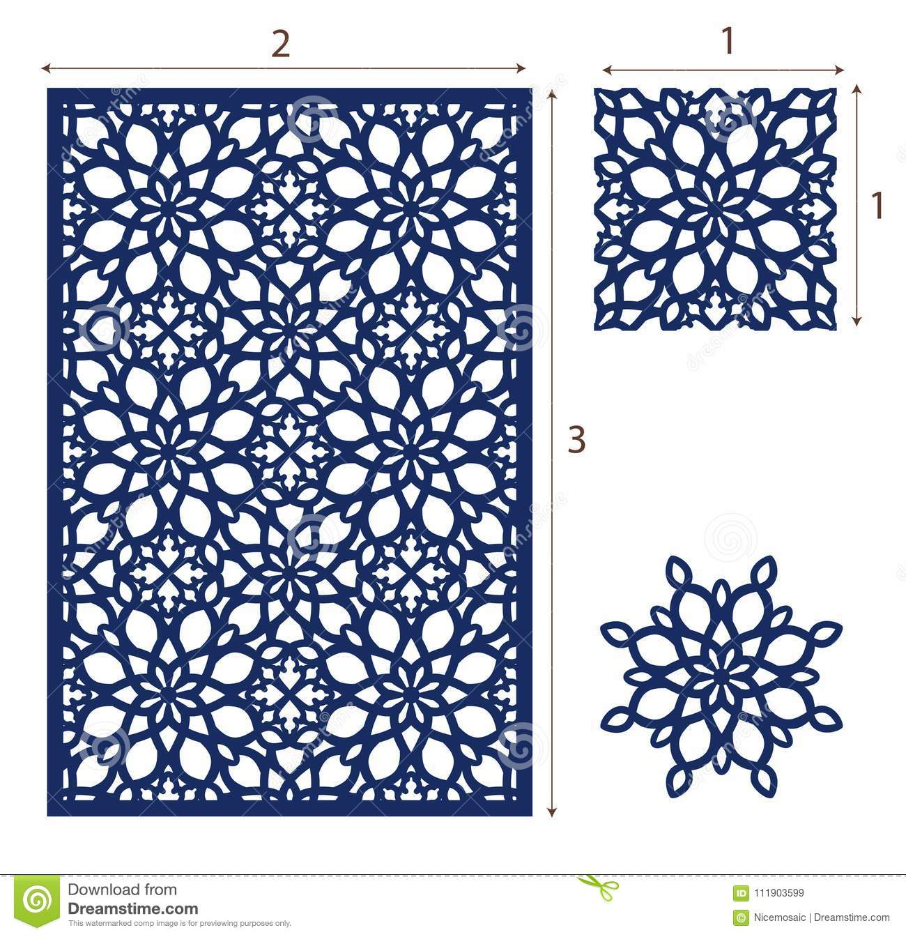Vector Laser Cut Panel, The Seamless Eastern Design Pattern For