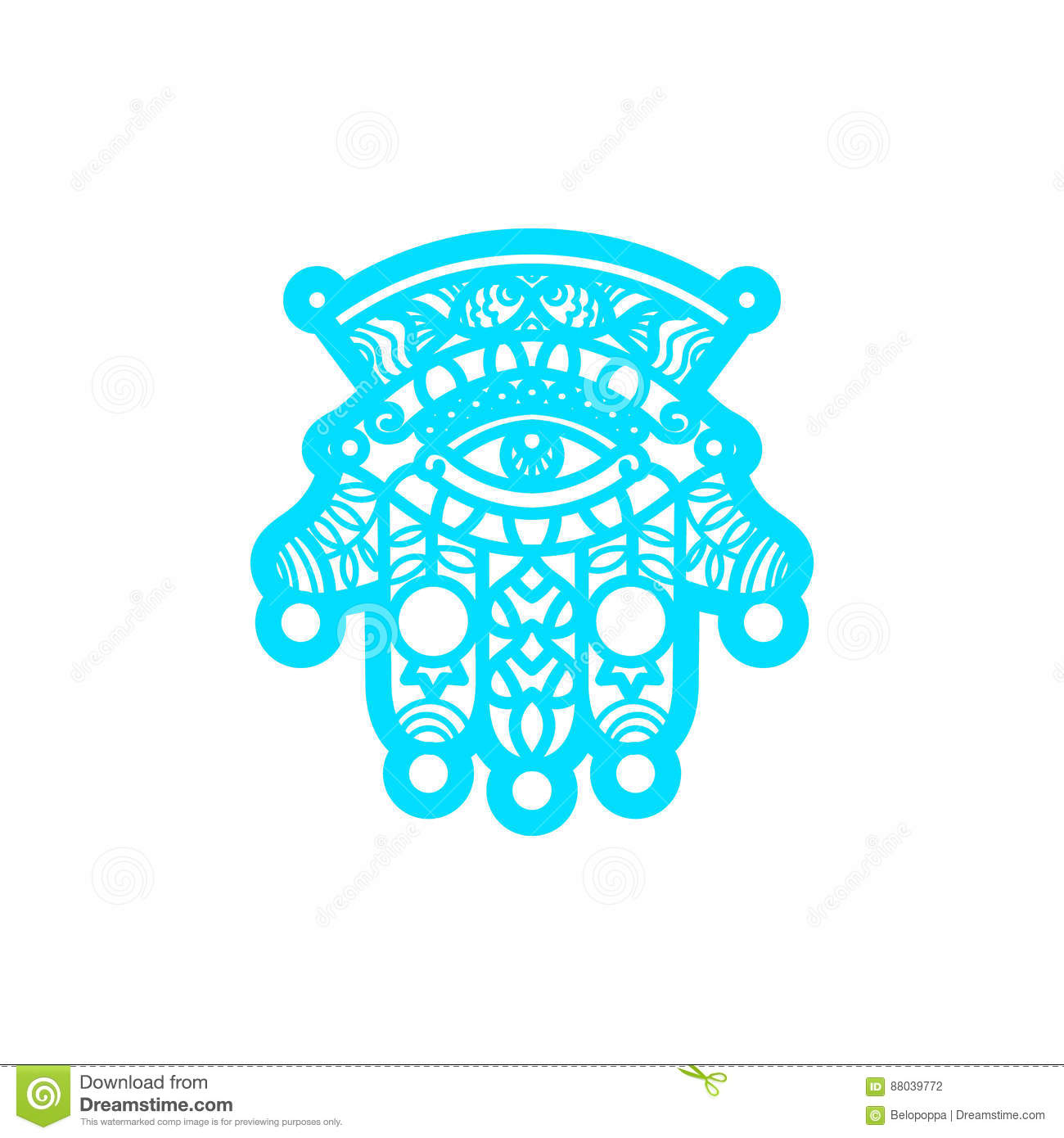 vector laser cutting template hamsa stock photo image of tribal