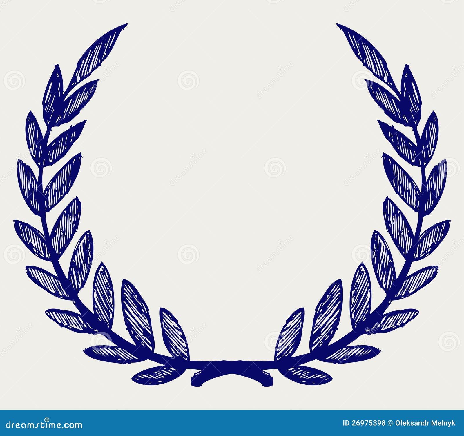 Vector Laurel Wreath Clip Art