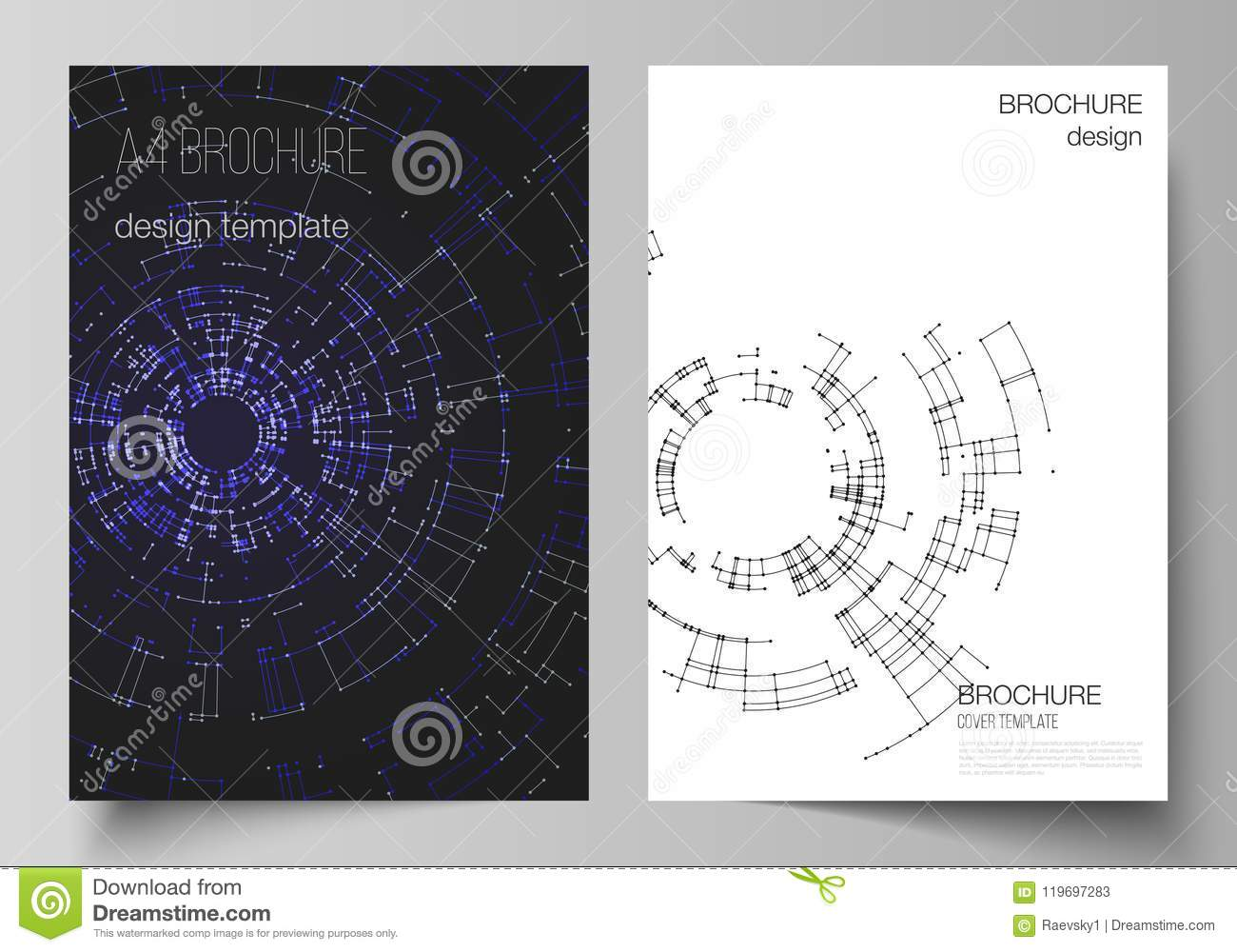 The Vector Layout Of A4 Format Cover Mockups Design Templates For ...