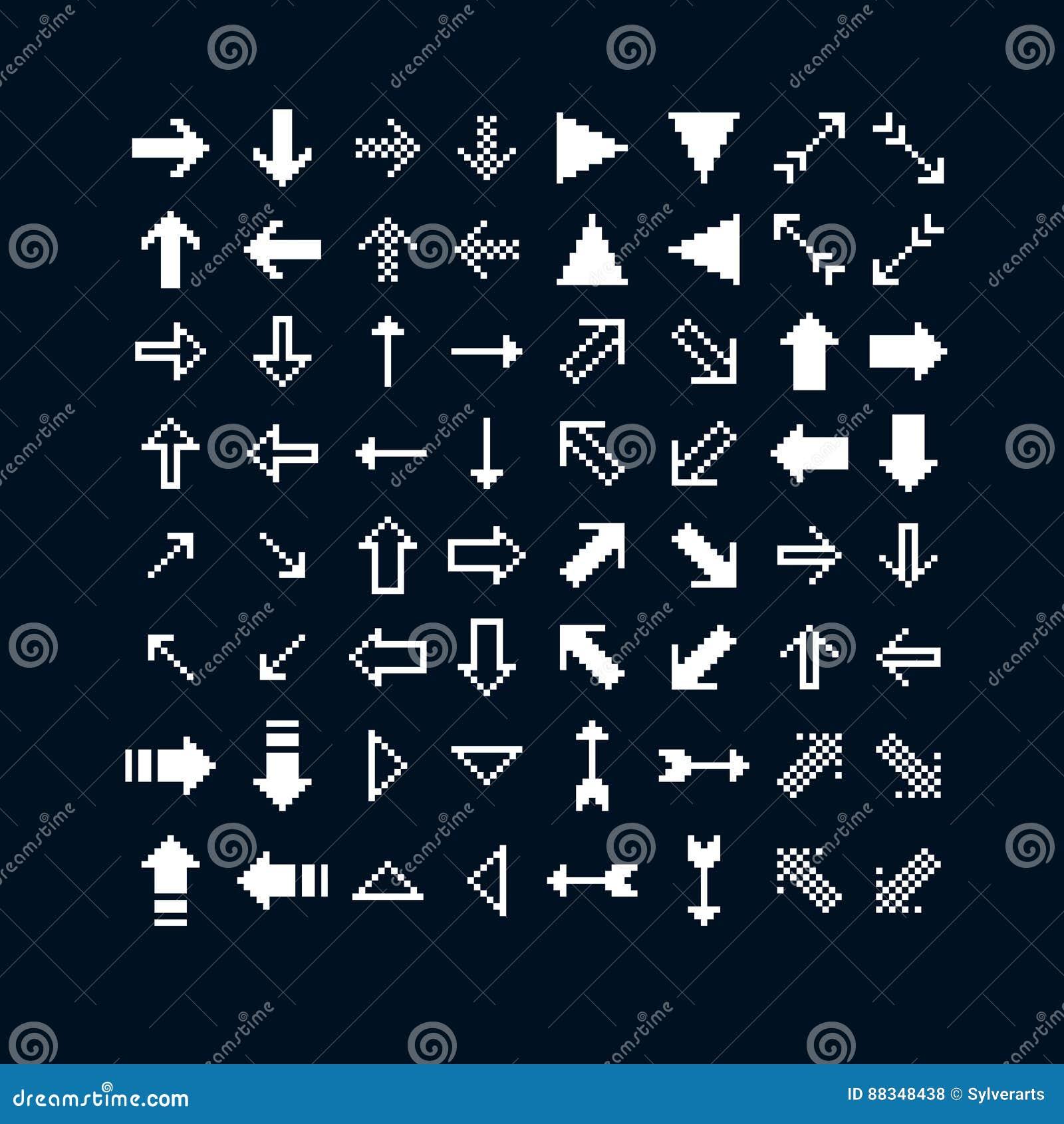 Vector le icone del bit del piano 8 raccolta del pixel for Semplice creatore di piano gratuito