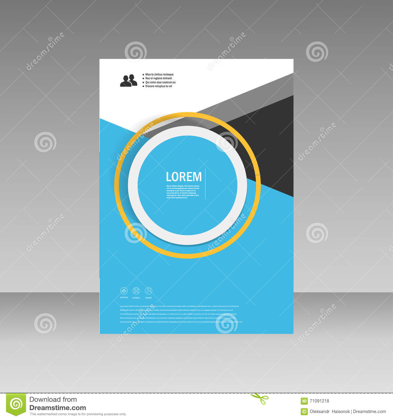 Book Cover Layout : Vector leaflet brochure flyer template a size design