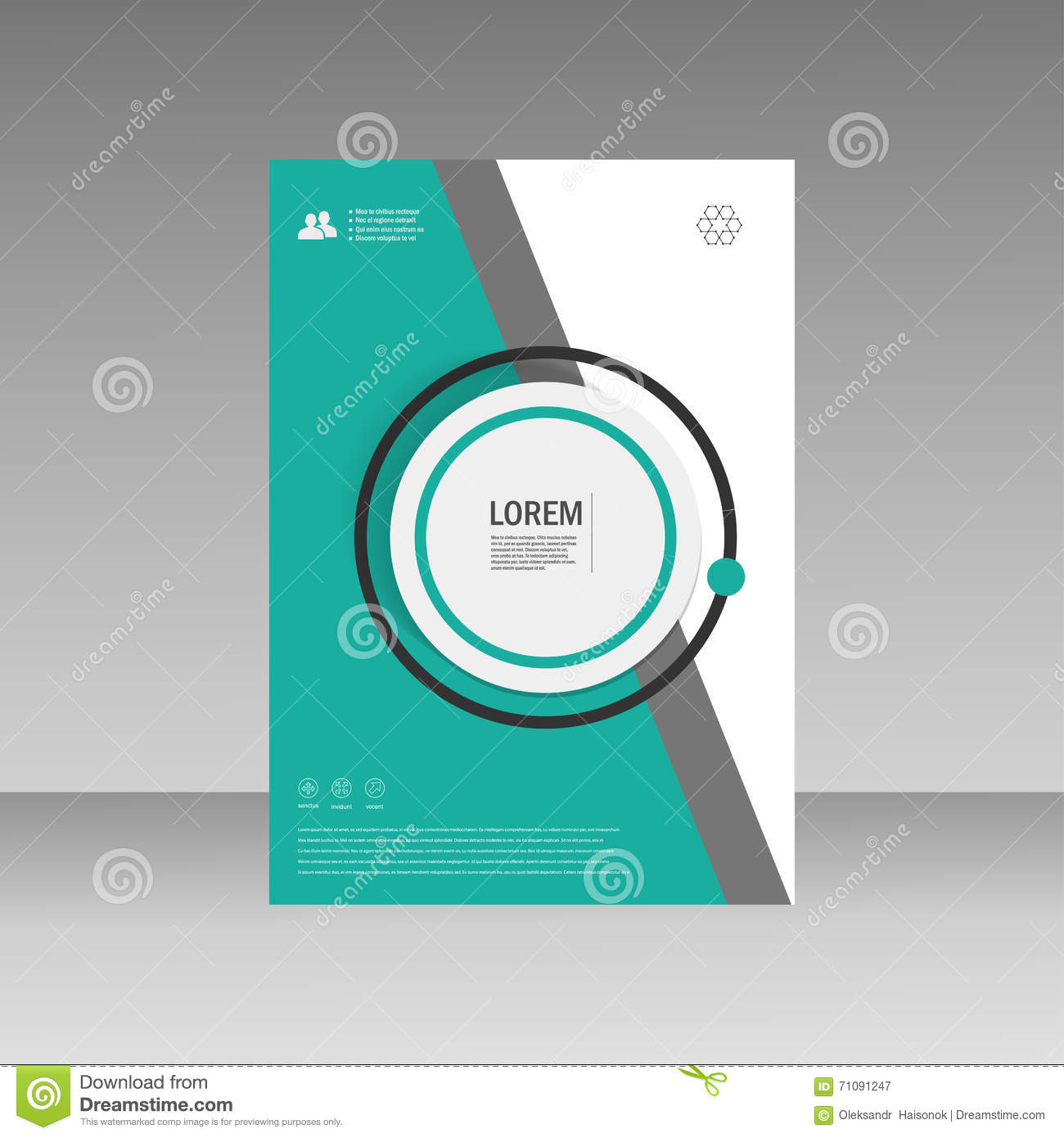 Simple Book Cover Template : Vector leaflet brochure flyer template a size design