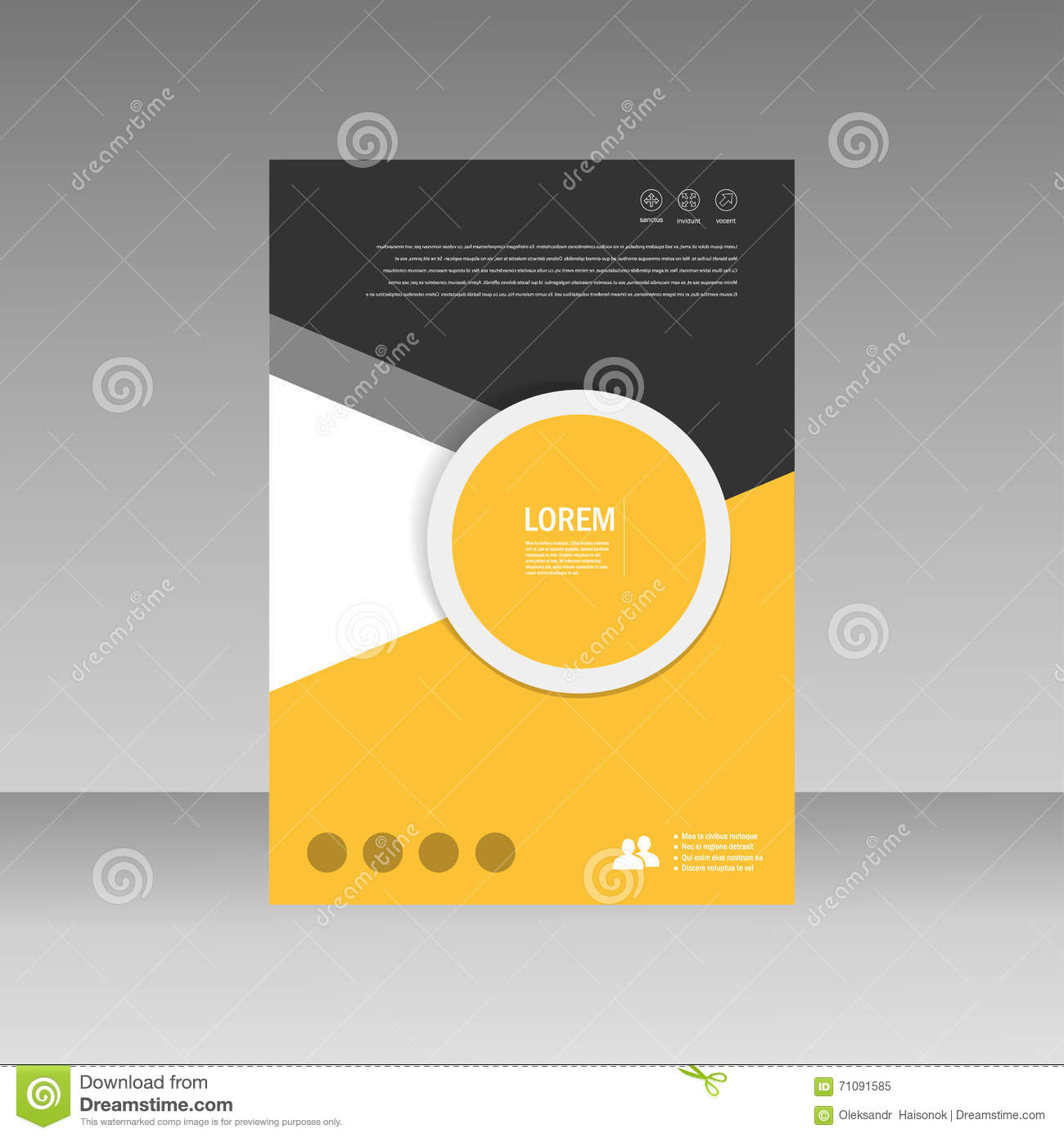 Book Cover Layout Design : Vector leaflet brochure flyer template a size design