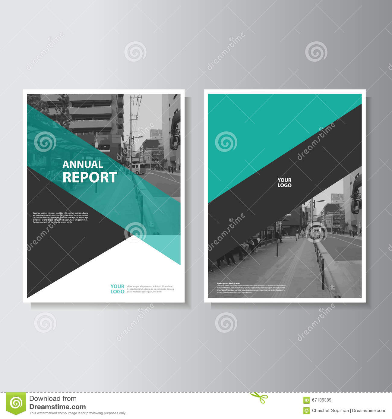 Orange Vector Annual Report Leaflet Brochure Flyer Template Design ...