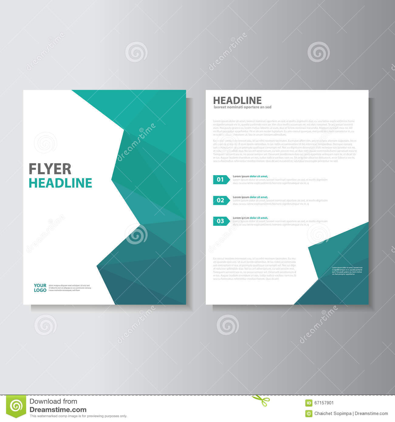 Vector leaflet brochure flyer template a4 size design for Book cover page design templates free download