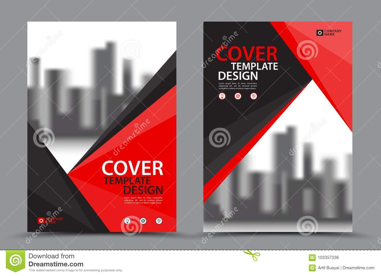 Vector Leaflet Brochure Flyer template A4 size design, annual report, book cover