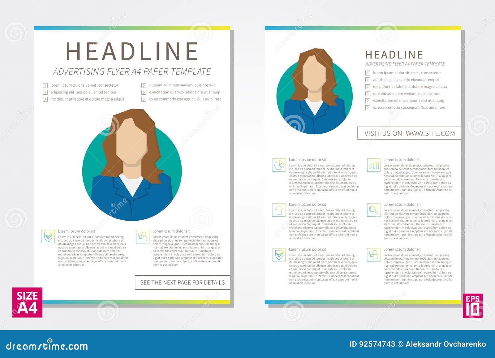 vector leaflet design template