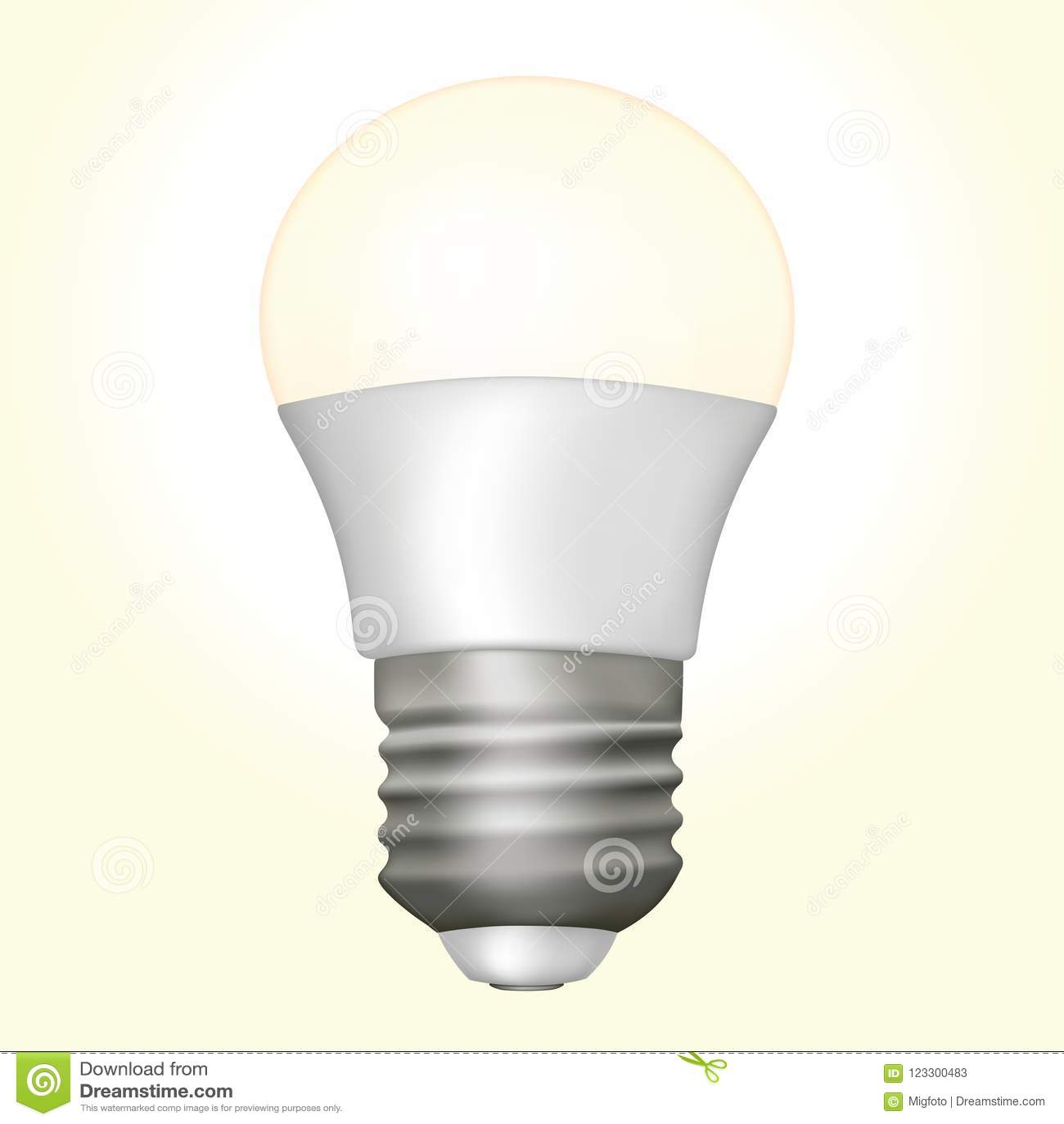 Vector Led Lamp Stock Illustration Of Light 123300483 Lightemitting Diode Application Circuit Basiccircuit