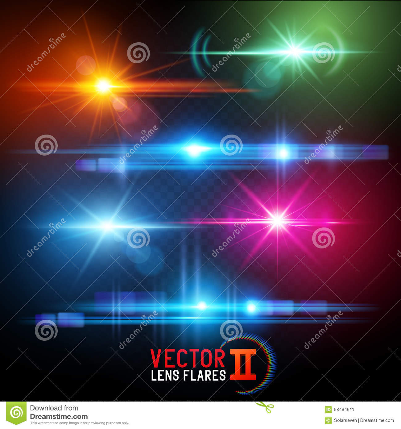 Vector Lens Flare Effects
