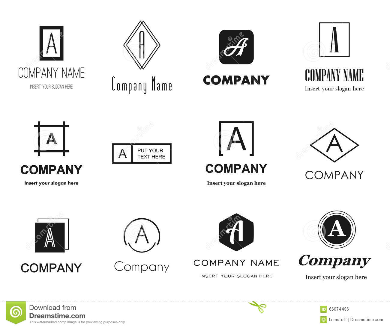 Vector Letter A Logos Icons Stock Vector   Illustration of